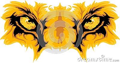 Lion Eyes Mascot Graphic