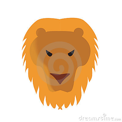Lion face vector illustration