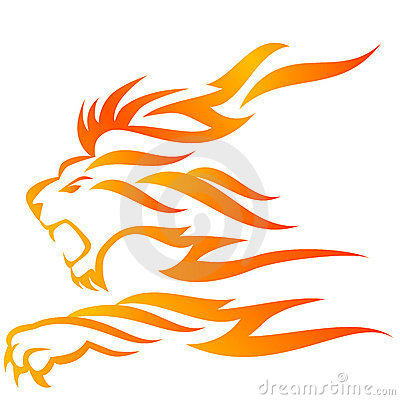 Free Lion Flame Stock Photography - 15394882