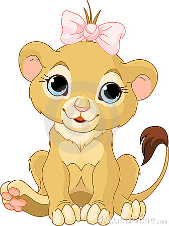 Free Lion Girl Cub Stock Photo - 19750080