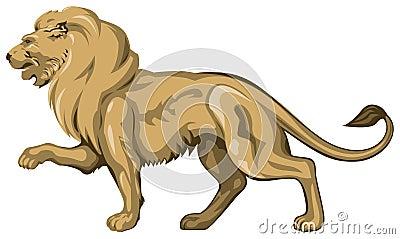 Lion golden sculpture