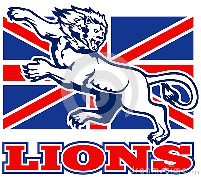 Lion Great Britain union jack flag