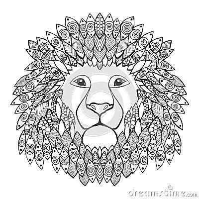 Lion Head Stock Vector Image