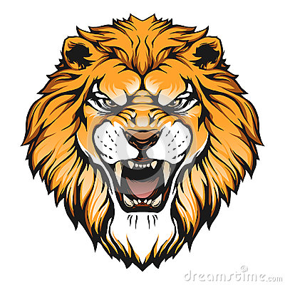 Free Lion Head Illustration Royalty Free Stock Photography - 57189787