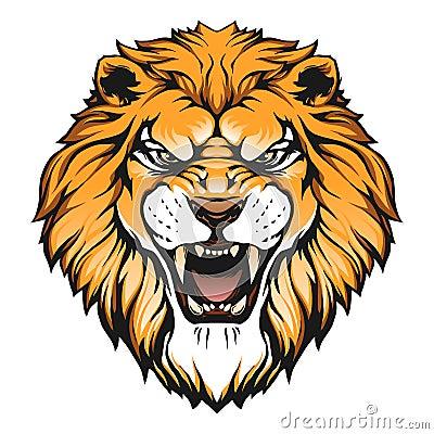 Lion head illustration Cartoon Illustration