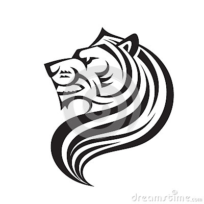 Free Lion Head In Profile View - Vector Logo Template Creative Illustration. Animal Wild Cat Face Graphic Sign. Pride, Strong, Power. Royalty Free Stock Image - 91342026