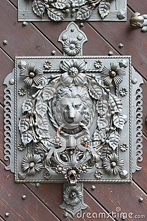 Lion head knocker