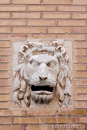 Lion head post box