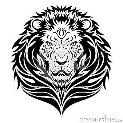 Free Lion HEad Tattoo Royalty Free Stock Photography - 13780147