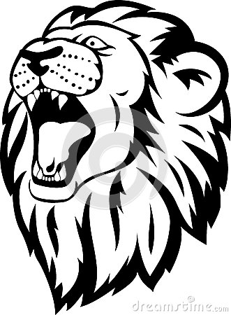Tribal Lion Head Tattoo Stock Easy Lion Head Stencil