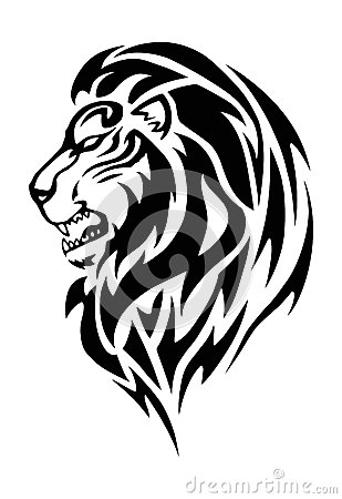 lion head tattoo stock illustration image 58780138
