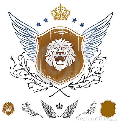 Lion Head Winged Insignia