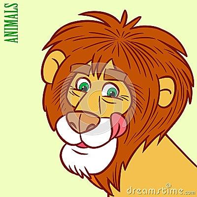 Lion cartoon head - photo#28