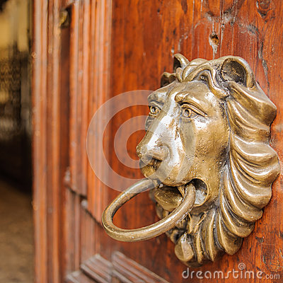 Free Lion Knocker Royalty Free Stock Photos - 51222278
