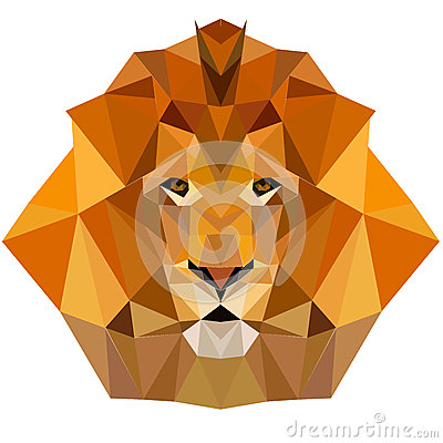 Free Lion Low Poly Design Geometric Animal Illustration Vector Royalty Free Stock Photography - 72262547