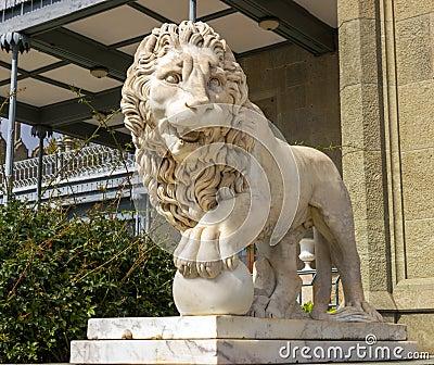 Lion marble sculpture