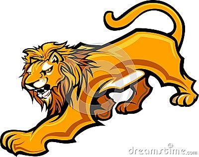 Lion Mascot Body Graphic