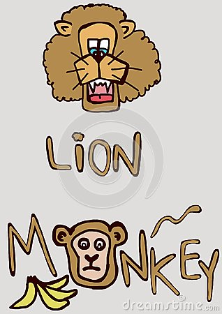 Lion and monkey