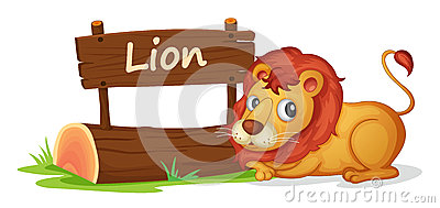 Lion and name plate