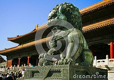 Lion -  in palace Gugun in Begin