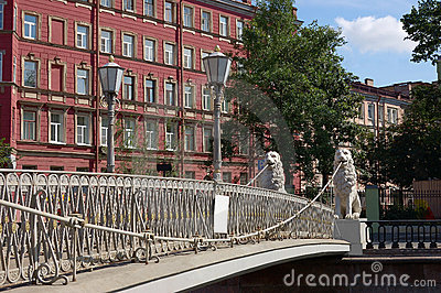 The Lion s bridge in St.-Petersburg