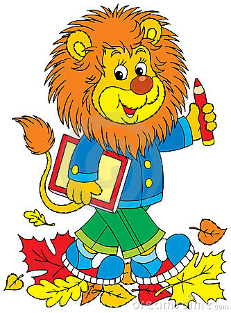 Lion schoolboy