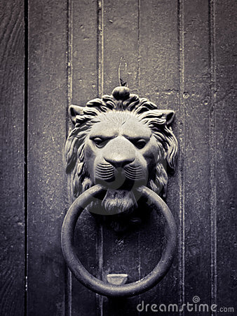 Lion-shaped door knocker