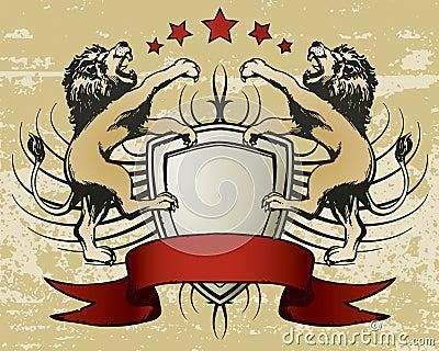 Lion Shield Crest