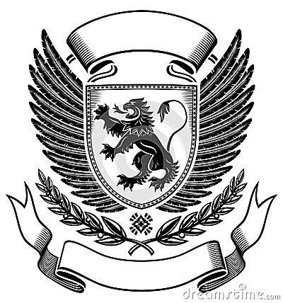 Lion shield Insignia