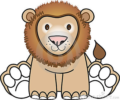 Lion sitting down