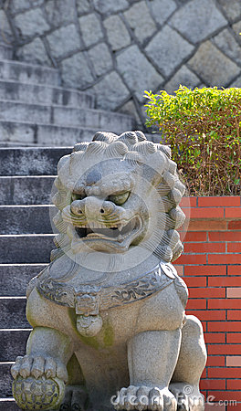 Lion statuary of Chinese style