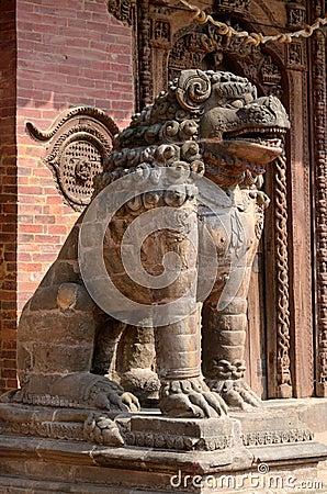 Free Lion Statue At Pattan Durbar Square In Kathmandu, Nepal Royalty Free Stock Photos - 31531138