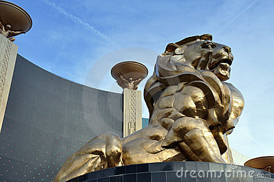 Lion Statue, MGM Grand Editorial Stock Photo