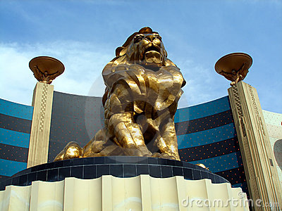 LIon statue, MGM Grand Editorial Photography