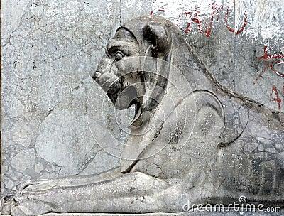 lion statue in Palermo
