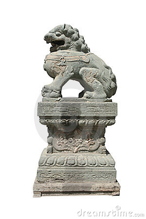 Free Lion Stone Sculpture 3 Stock Photography - 5195492