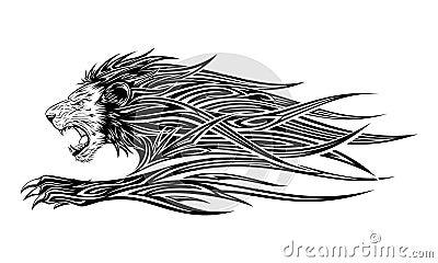 lion tattoo stock photos image 15358543. Black Bedroom Furniture Sets. Home Design Ideas