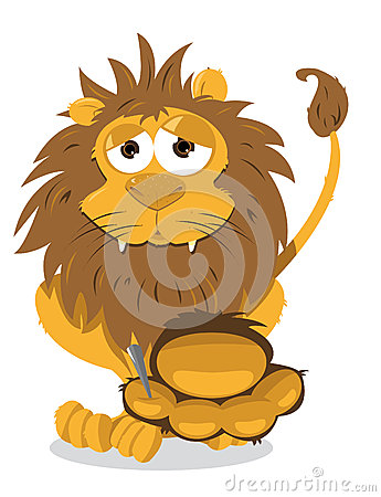 Lion And Thorn Stock Photos - Image: 27090653
