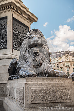 Lion from Trafalgar Square, London