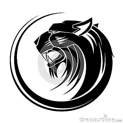 Lion tribal tattoo art.
