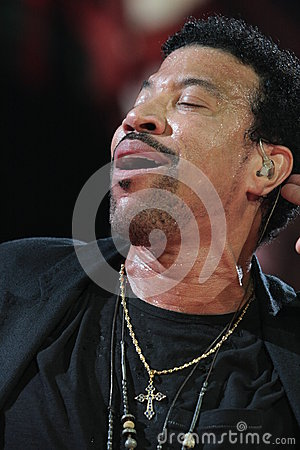 Lionel Richie performing Live at teh O2 in London Editorial Stock Photo