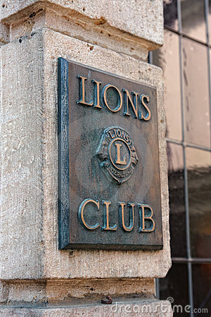 Lions club sign Editorial Image
