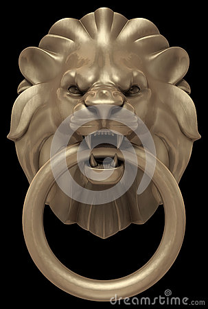 Lions Head Door Handle