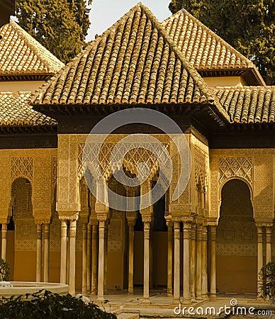 Free Lions Patio, Alhambra Granada Spain Stock Image - 23955871