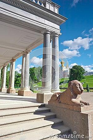 Lions in Pertergof,  St-Petersburg, Russia