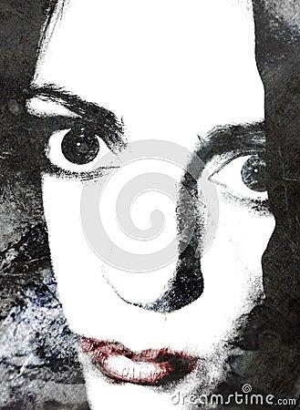 Lip abstrakcyjna portret kobiety