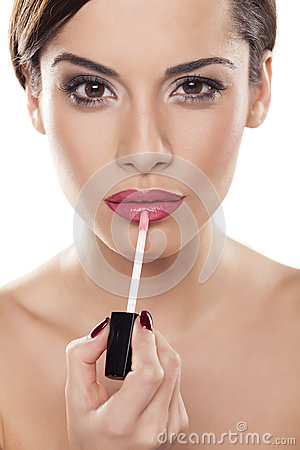 Free Lip Gloss Royalty Free Stock Images - 56457789