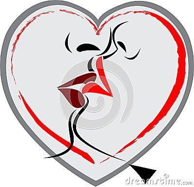 Lip kiss logo