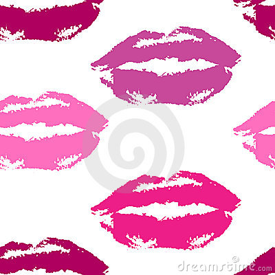 Lip print repeatable pattern