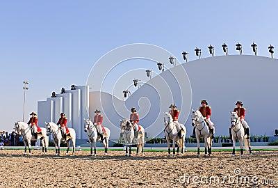Lipizzan Stallions show Editorial Photo